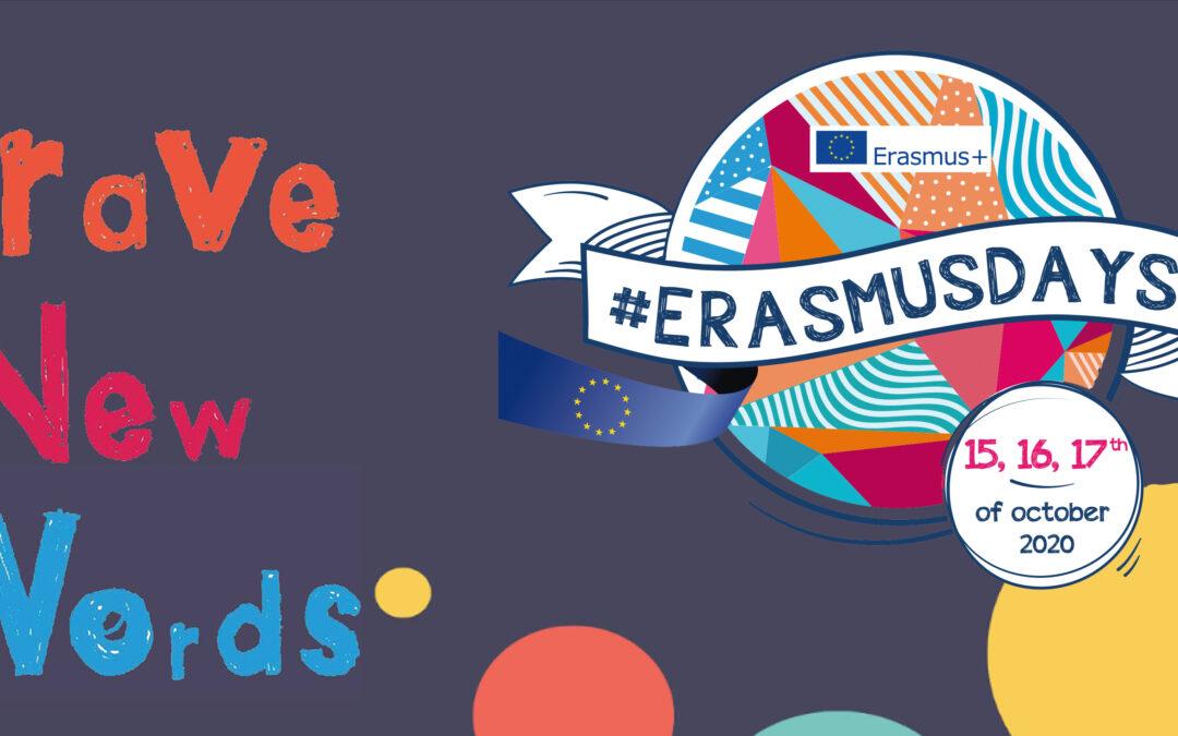 BRAVE NEW WORDS PRESENTED ON ERASMUS DAYS 2020!